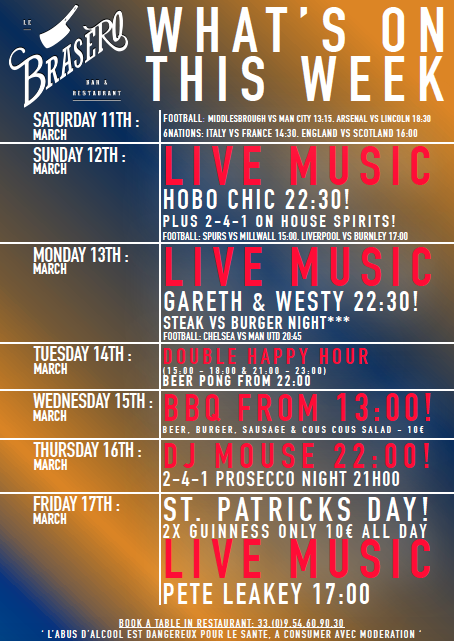 This Week at the Brasero Bar… more fun times!