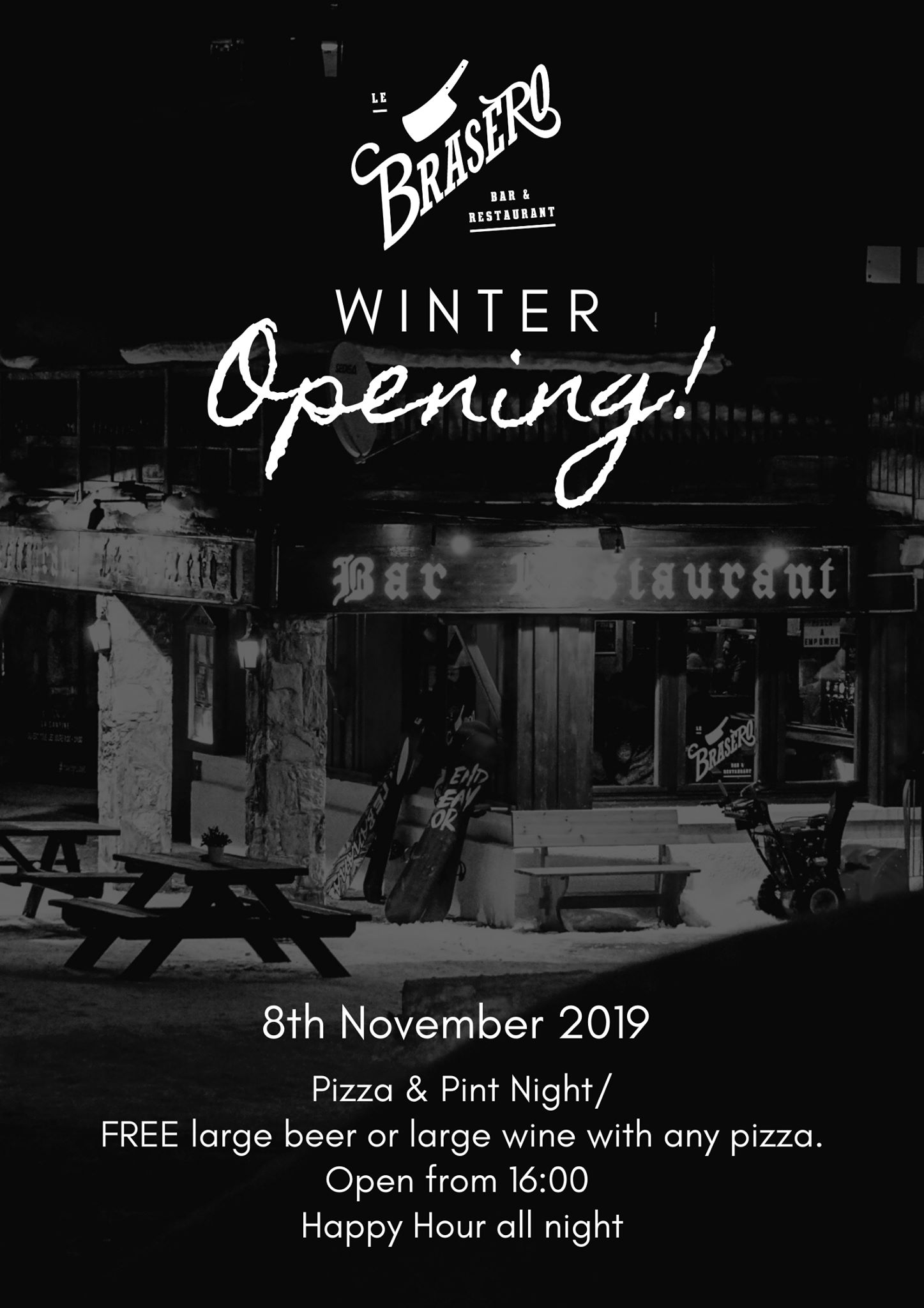 BRASERO OPENING WINTER 19/20
